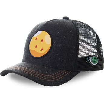 Capslab Four-Star Dragon Ball CRI1 Dragon Ball Black Trucker Hat