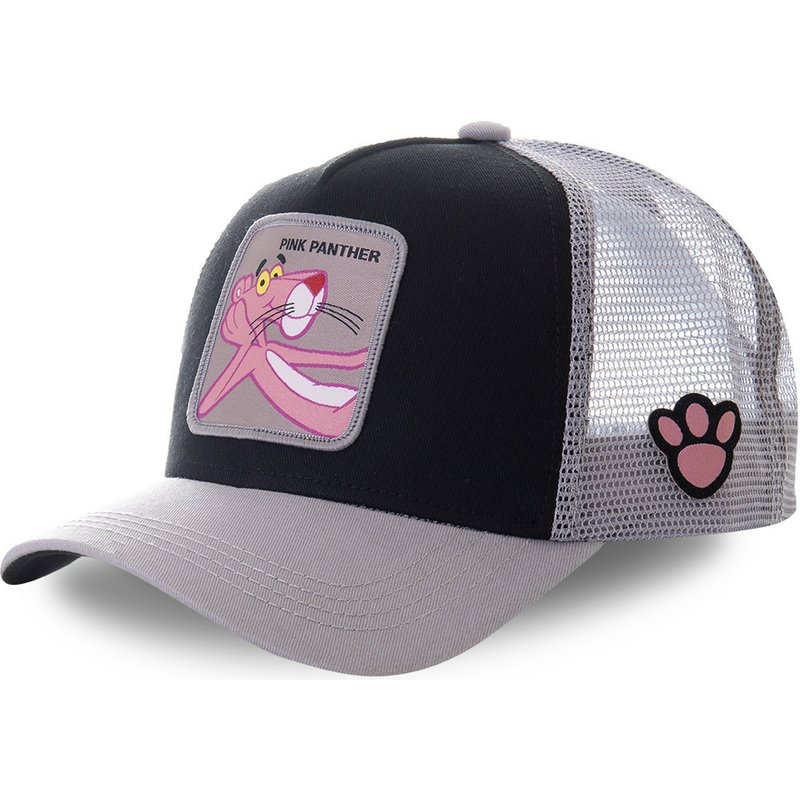 capslab-pink-panther-pant4-black-and-grey-trucker-hat