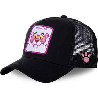 Capslab Pink Panther PANT7 Black Trucker Hat