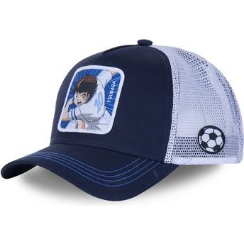 Capslab Tsubasa Oozora TSU2 Captain Tsubasa Navy Blue and Grey Trucker Hat