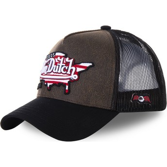 Von Dutch PAY2 Brown and Black Trucker Hat