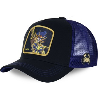 Capslab Cancer CAN Saint Seiya: Knights of the Zodiac Black Trucker Hat