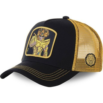 Capslab Leo SAILEO Saint Seiya: Knights of the Zodiac Black and Golden Trucker Hat