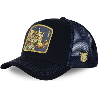 Capslab Taurus TAU Saint Seiya: Knights of the Zodiac Black and Blue Trucker Hat