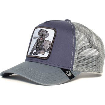 Goorin Bros. Great Dane Dog Big D Grey Trucker Hat