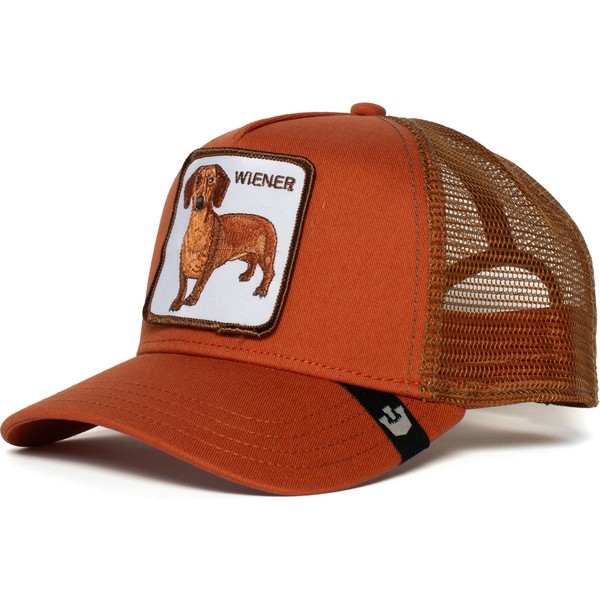 goorin-bros-dachshund-dog-weiner-dawg-brown-trucker-hat