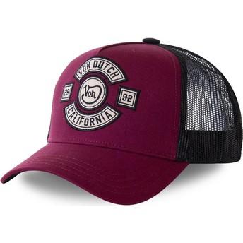Von Dutch BIKBOR Maroon Trucker Hat