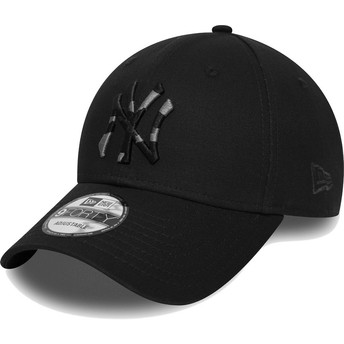 New Era Curved Brim Camouflage Logo 9FORTY Camo Infill New York Yankees MLB Black Adjustable Cap