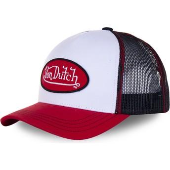 Von Dutch BBR White, Black and Red Trucker Hat