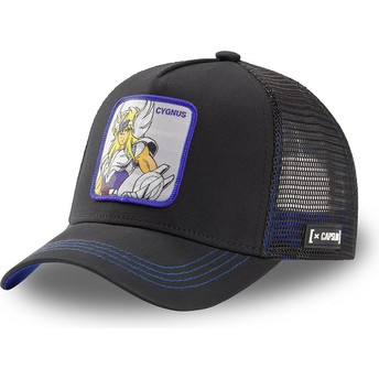 Capslab Cygnus Hyoga CYG3 Saint Seiya: Knights of the Zodiac Black Trucker Hat
