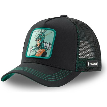 Capslab Dragon Shiryū DRA3 Saint Seiya: Knights of the Zodiac Black Trucker Hat