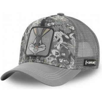Capslab Bugs Bunny PEO1 Looney Tunes Grey Trucker Hat