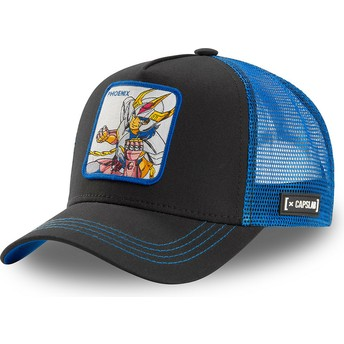 Capslab Phoenix Ikki PHO1 Saint Seiya: Knights of the Zodiac Black and Blue Trucker Hat