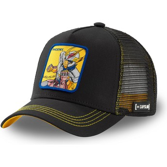 Capslab Phoenix Ikki PHO3 Saint Seiya: Knights of the Zodiac Black Trucker Hat