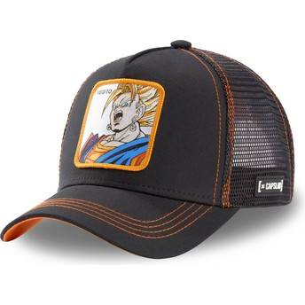 Capslab Vegito Super Saiyan VEG3 Dragon Ball Black Trucker Hat