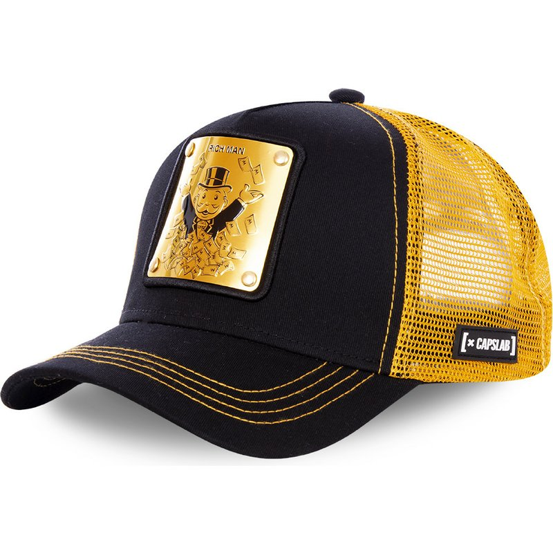 capslab-rich-uncle-pennybags-bif-monopoly-black-and-golden-trucker-hat
