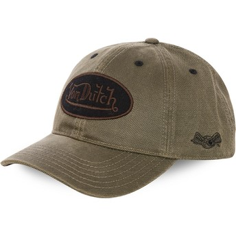 Von Dutch Curved Brim BODK Brown Adjustable Cap