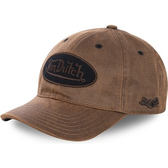 Von Dutch Curved Brim BODM Brown Adjustable Cap