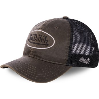 Von Dutch JOHN5 Brown and Black Trucker Hat