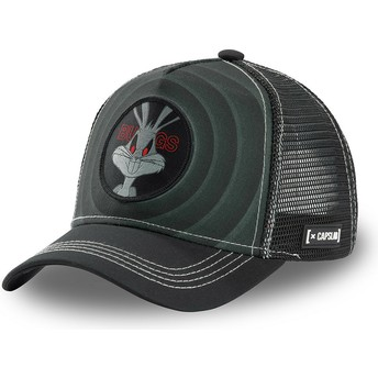 Capslab Bugs Bunny Bullseye Color Rings LOO BUG2 Looney Tunes Black Trucker Hat
