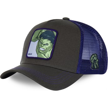Capslab Youth Hulk KID_HLK1 Marvel Comics Grey and Purple Trucker Hat