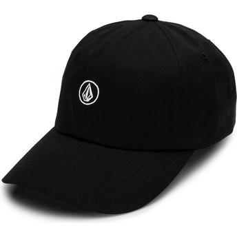 Volcom Curved Brim Black Circle Stone Black Adjustable Cap
