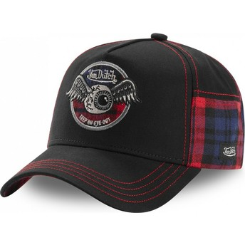 Von Dutch ACAR RED Black Trucker Hat