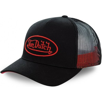 Von Dutch NEO RED Black Trucker Hat