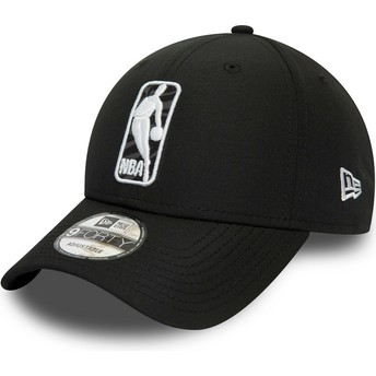 New Era Curved Brim 9FORTY Logo Hook Jerry West NBA Black Adjustable Cap