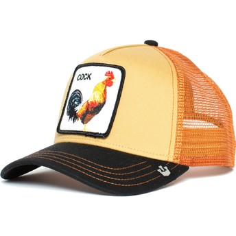 Goorin Bros. Rooster A Doodle Doo Orange and Black Trucker Hat