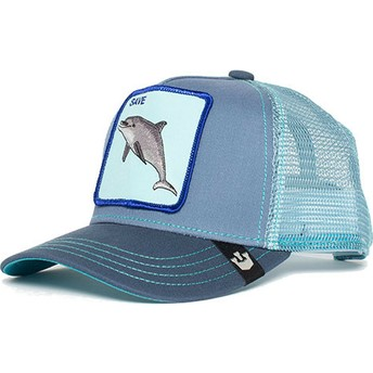 Goorin Bros. Youth Dolphin Ocean Vibes Blue Trucker Hat