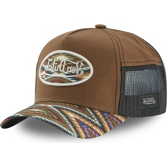 Von Dutch ATRU SHE Brown Trucker Hat