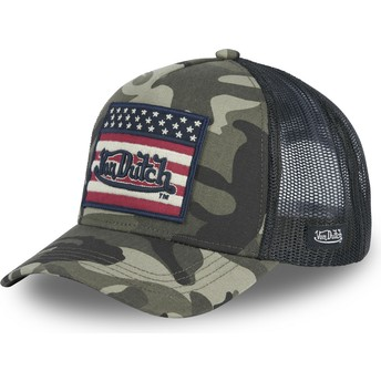 Von Dutch FLAG CK Camouflage Trucker Hat