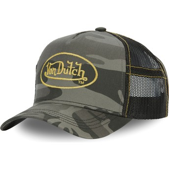 Von Dutch CAM GOL Camouflage Trucker Hat