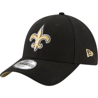 New Era Curved Brim 9FORTY The League New Orleans Saints NFL Adjustable Cap verstellbar schwarz