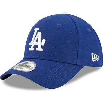 New Era Curved Brim 9FORTY The League Los Angeles Dodgers MLB Adjustable Cap blau