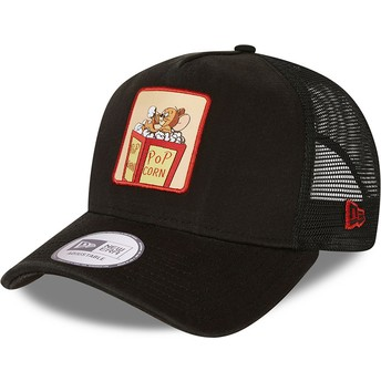 New Era Tom and Jerry A Frame Looney Tunes Black Trucker Hat