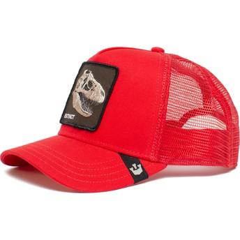 Goorin Bros. Dinosaur T-Rex Extinct Bone To Pick The Farm Red Trucker Hat