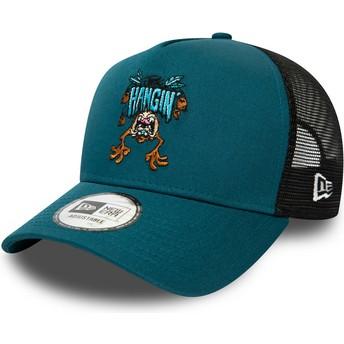 New Era Tasmanian Devil Character A Frame Looney Tunes Blue Trucker Hat