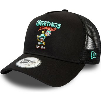 New Era Marvin the Martian Character A Frame Looney Tunes Black Trucker Hat