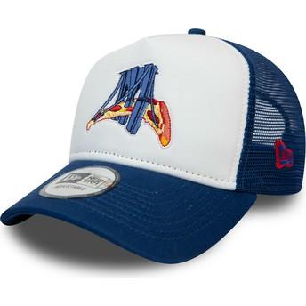 New Era A Frame Brooklyn Cyclones MiLB White and Blue Trucker Hat
