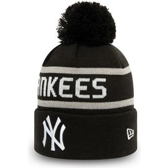 New Era Cuff Knit Jake New York Yankees MLB Black Beanie with Pompom