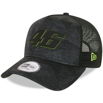 New Era Engineered A Frame Valentino Rossi VR46 Black Trucker Hat