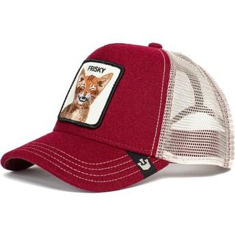 Goorin Bros. Cat Frisky Whisky The Farm Red Trucker Hat