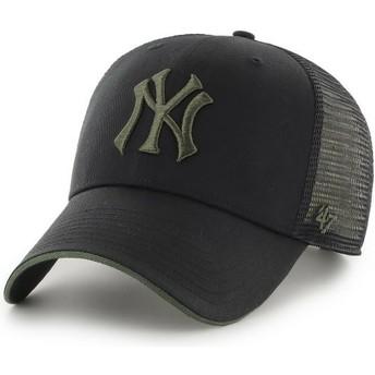 47 Brand Green Logo MVP Dagwood New York Yankees MLB Black Trucker Hat