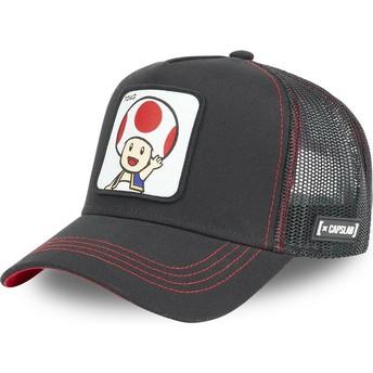 Capslab Toad TOA2 Super Mario Bros. Black Trucker Hat