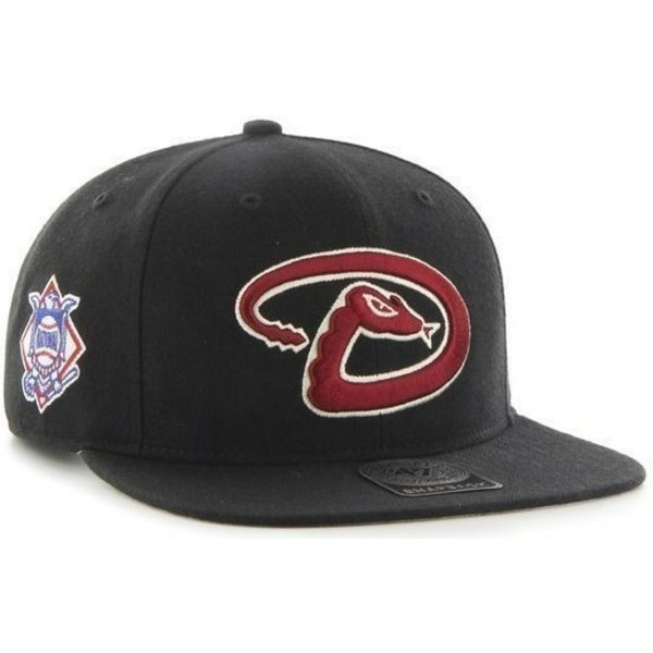 47-brand-flat-brim-arizona-diamondbacks-mlb-sure-shot-snapback-cap-schwarz-