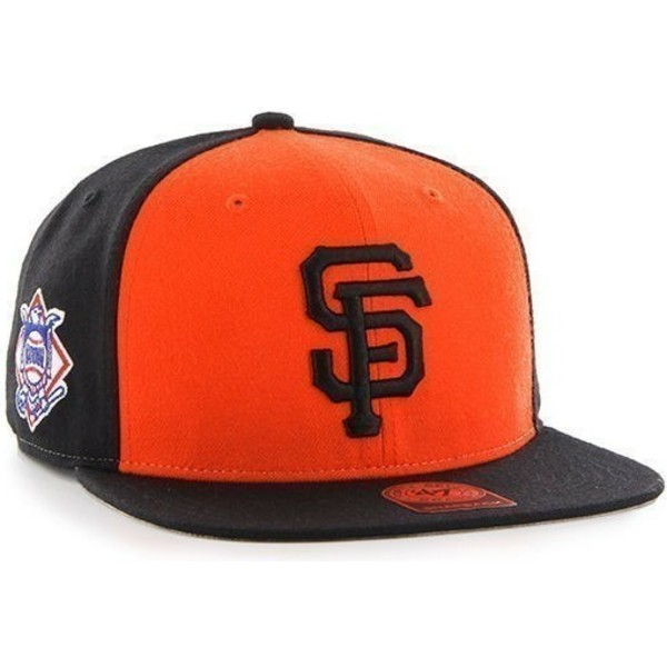 47-brand-flat-brim-san-francisco-giants-mlb-sure-shot-snapback-cap-schwarz-und-orange-