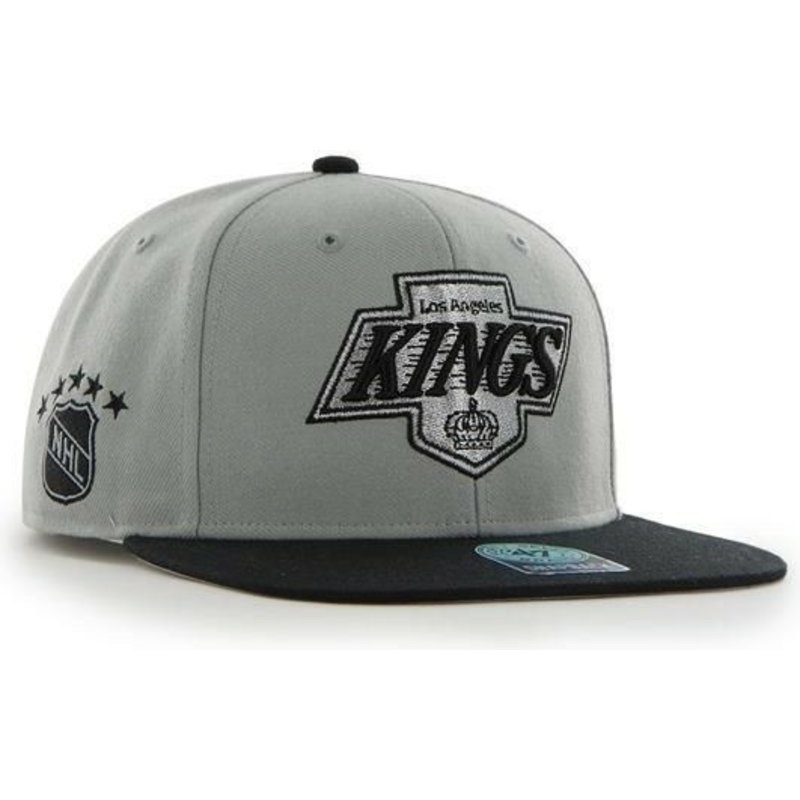 47-brand-flat-brim-los-angeles-kings-nhl-sure-shot-snapback-cap-grau