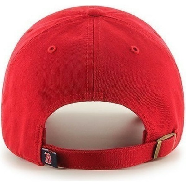 47-brand-curved-brim-boston-red-sox-mlb-clean-up-cap-rot